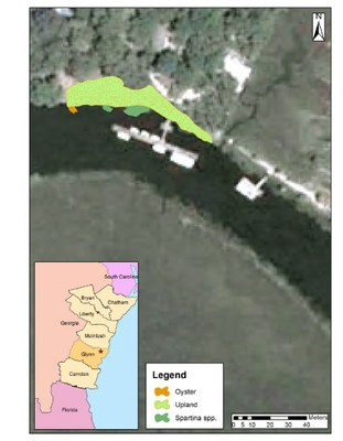 Little St. Simons Island Habitat Map Prior to Construction